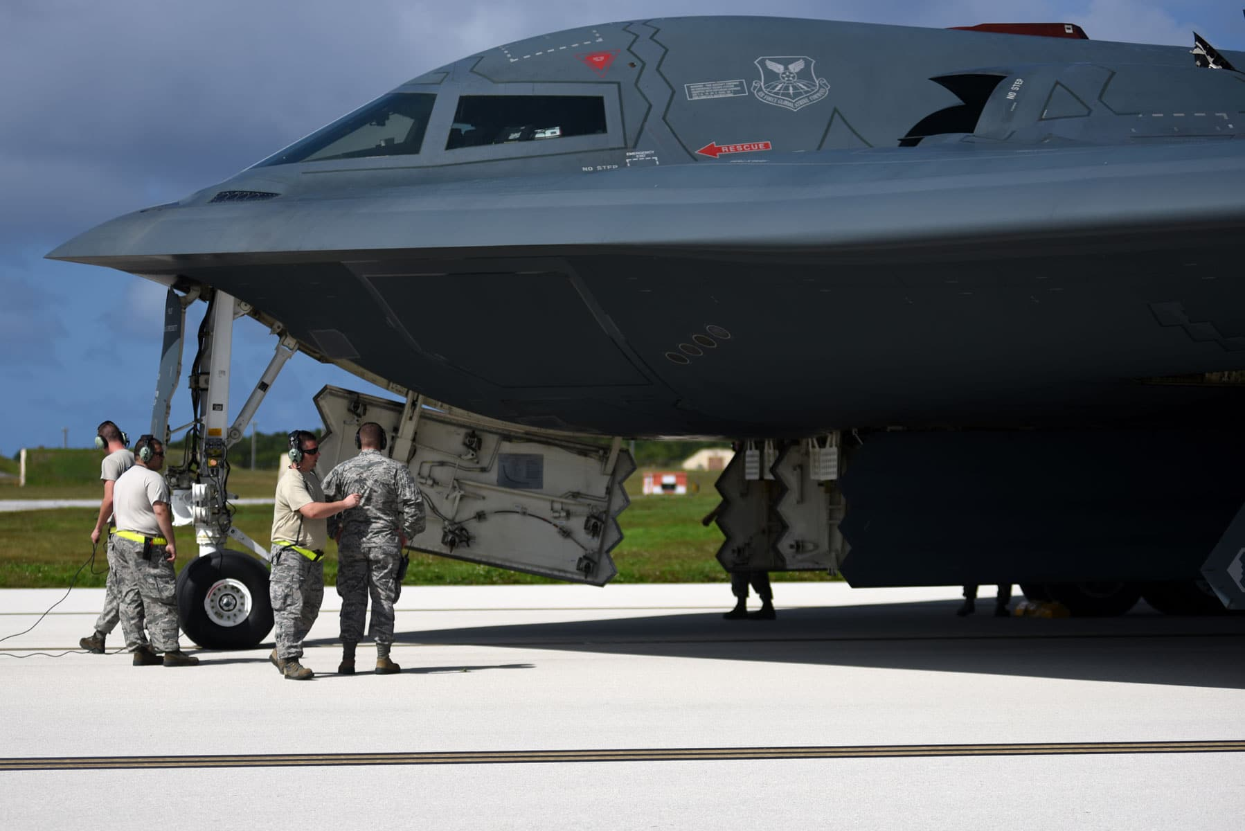 Approximately 200 Airmen and three B-2 Spirits from Whiteman Air Force Base (AFB), Missouri, deployed to Andersen AFB in support of U.S. Pacific Command's (PACOM) Bomber Assurance and Deterrence mission.
