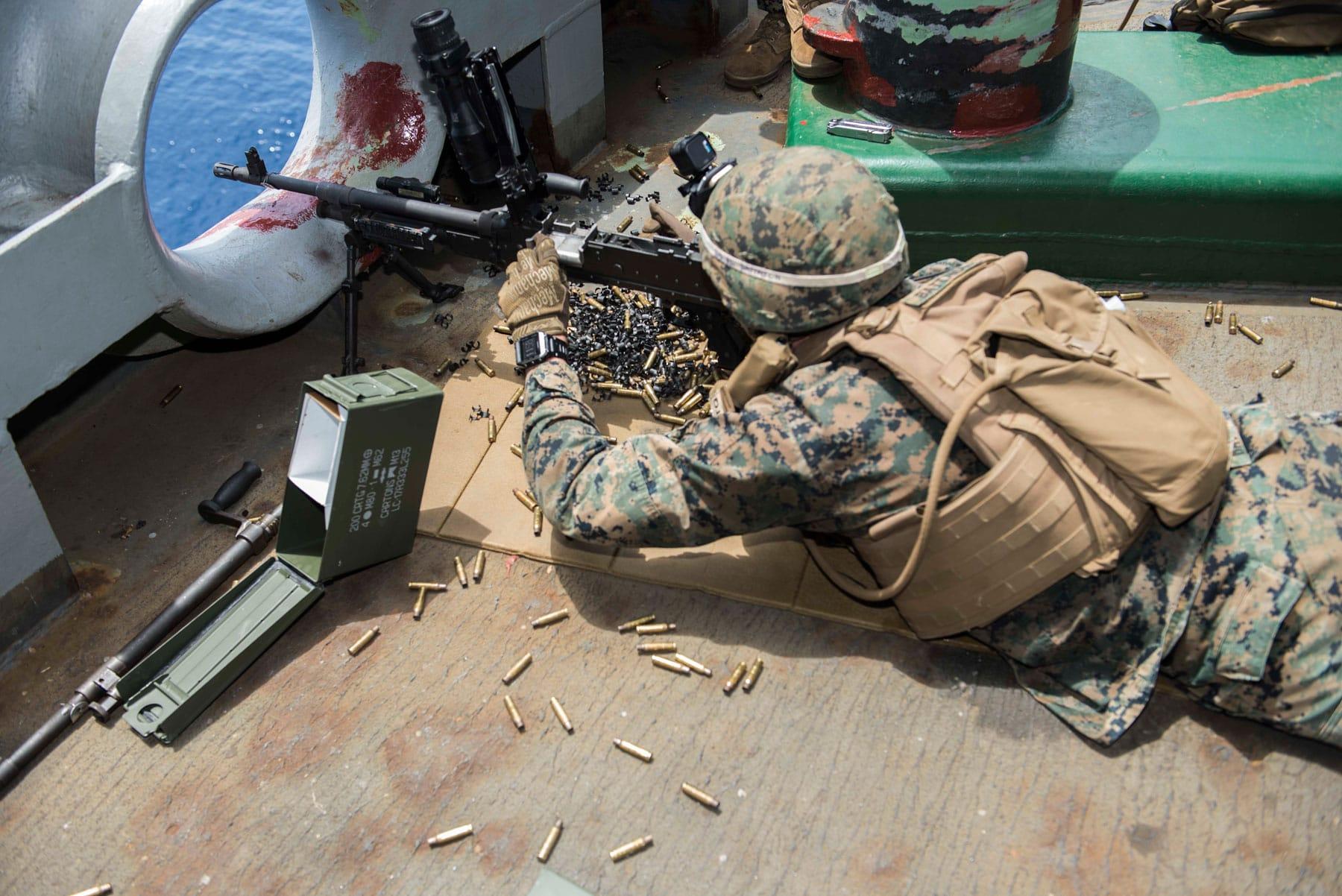 Machine Gunner Marines
