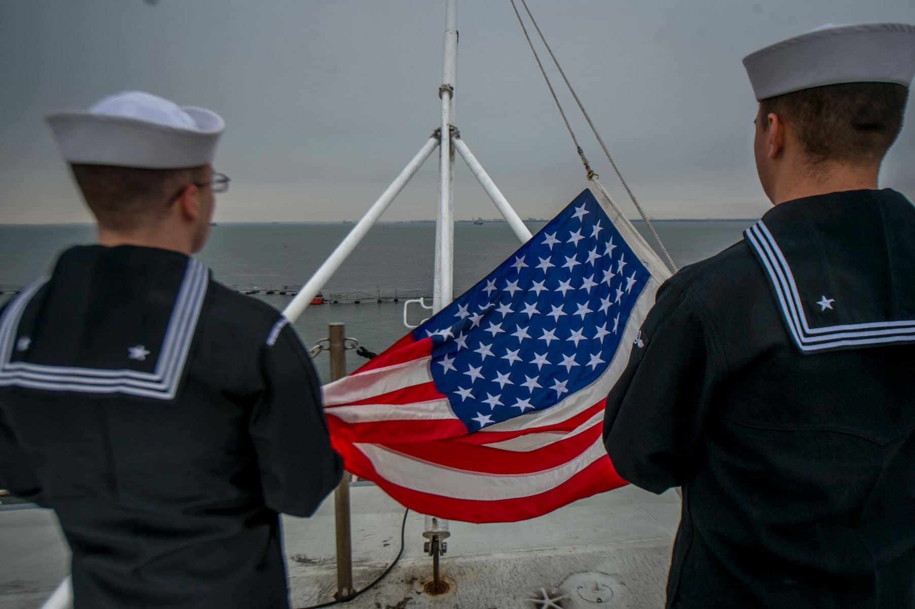 USS George H.W. Bush American Flag