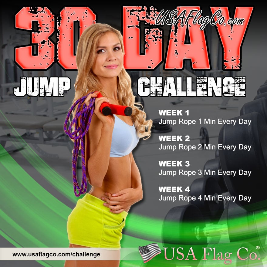 30 Day Jump Rope Challenge Usa Flag Co