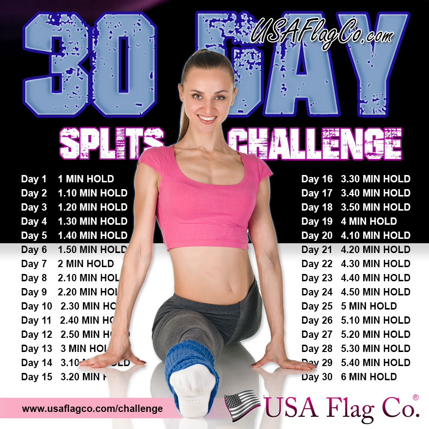 30 Day Splits Challenge by USA Flag Co.