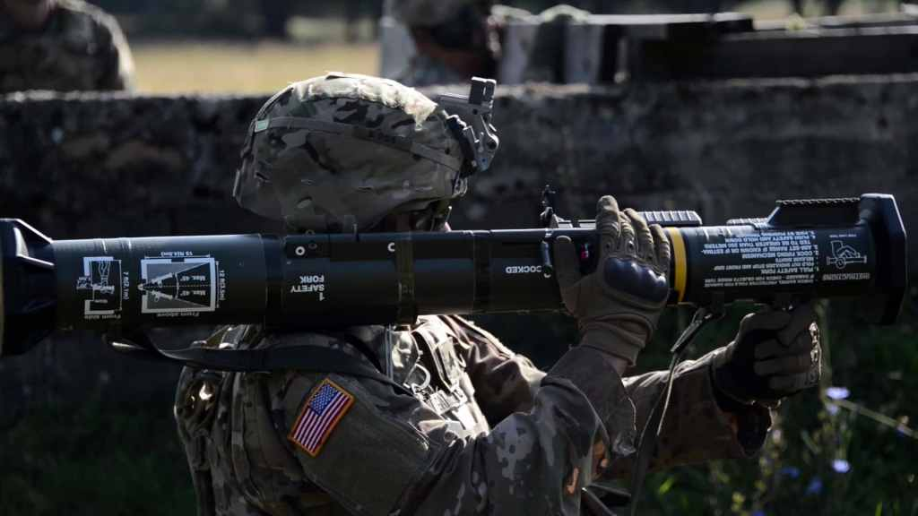 """U.S. Army Soldiers """"LIVE-FIRE"""" AT4-CS Confined Space Light Anti-Armor Weapons"""