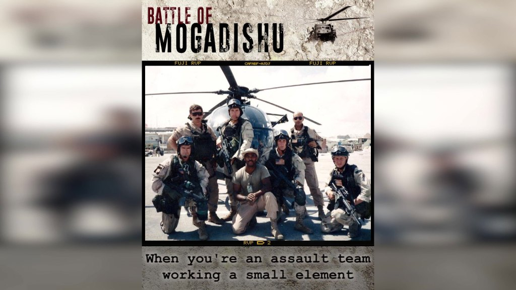 Battle of Mogadishu — the most intense close combat since the Vietnam War.