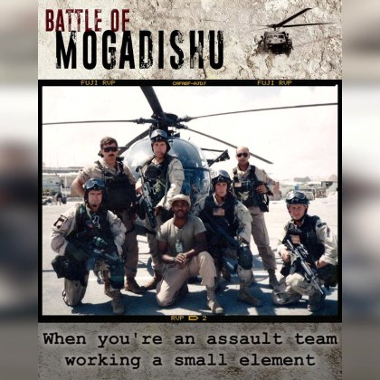 Battle of Mogadishu — the most intense close combat since the Vietnam War.