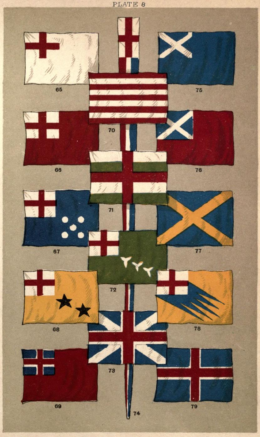 Cross of St. Andrew Flag Chart