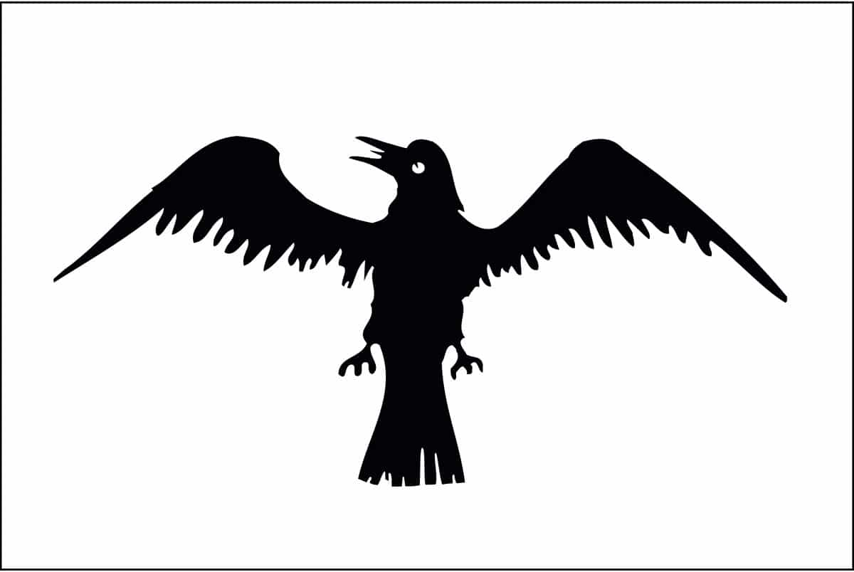 Raven Flag flow by the Vikings in the 9th, 10th and 11th Centuries
