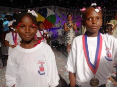 Samika Bruna Delhomme (L) of Northwest and Loveda Movin of Nippes were named finalists. Photo credit: MENFP