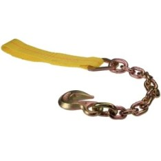 "image of 2"" replacement ratchet strap with chain extension"