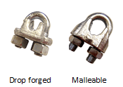 image of wire rope clips from US Cargo Control