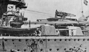 Damage to Graf Spee