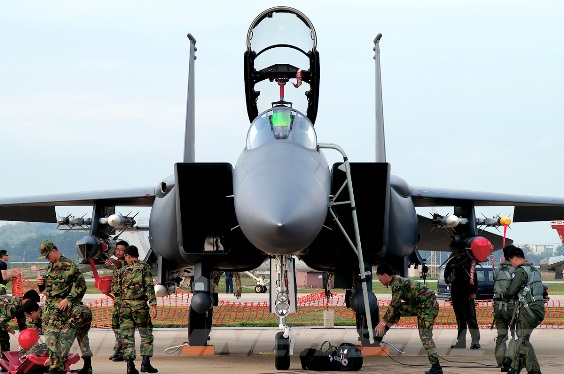 The ROK has 60 F-15K Slam Eagles in service with its 11th Fighter Wing based in Taegu.