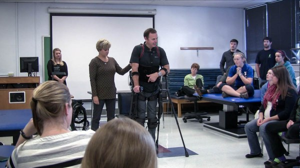 Physical therapy students see exoskeleton demonstration ...
