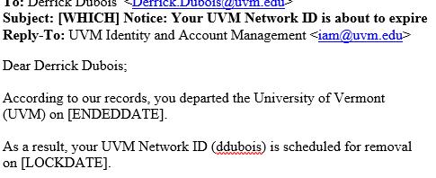 Email Part II Deactivation