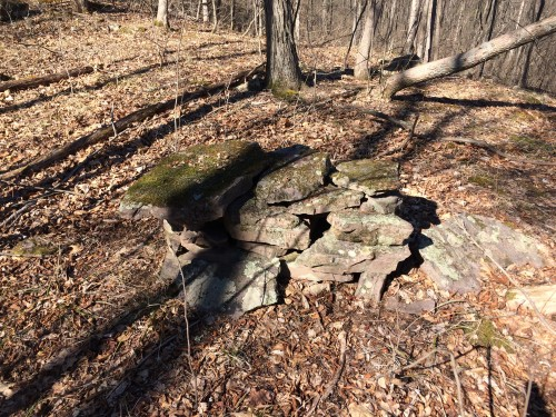 Mysterious stone structure found on Pease Mountain.