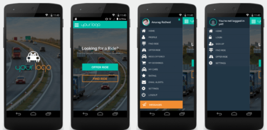rideshare android app clone