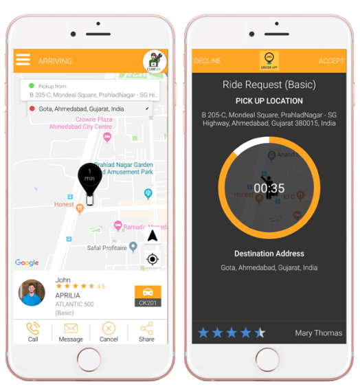 Orbit Taxi and Delivery App