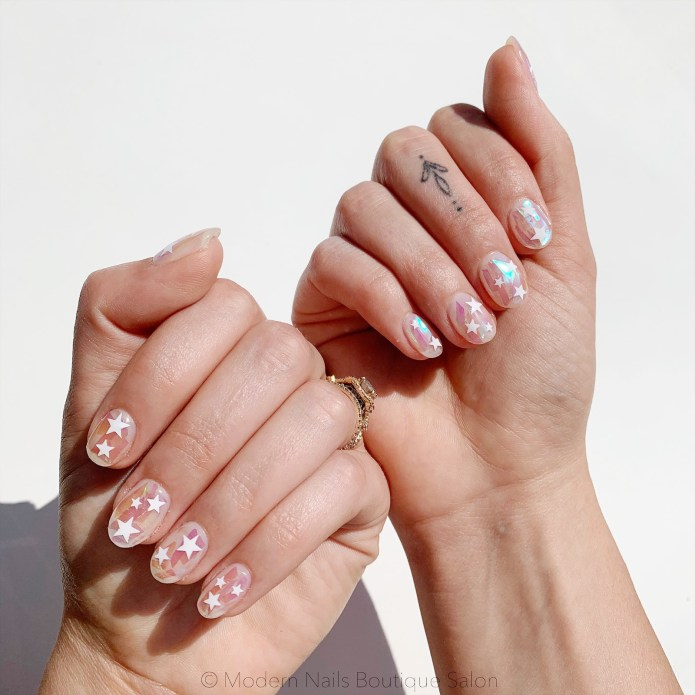 image of nail art that has stars