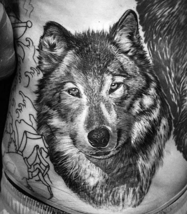 tattoo of a wolf
