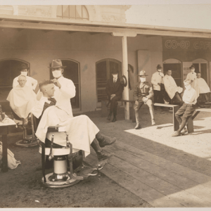 An Industry Endures: Open-Air Haircuts, A Century Apart