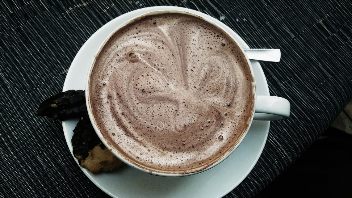Homemade Salted Caramel Hot Chocolate