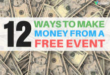 make money from a free event valoso