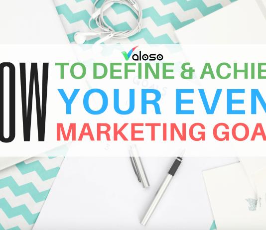 event marketing goals valoso