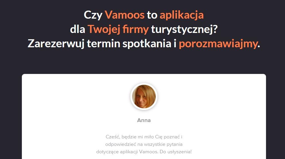 Porozmawiaj o aplikacji Vamoos