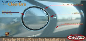 Porsche 911 Bad Clear Bra Installations