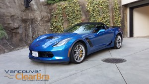 Corvette-z06-blue-roadster-Xpel-ULTIMATE-Clear-Bra-Paint-Protection-Film-installation-Vancouver-ClearBra-3M-1