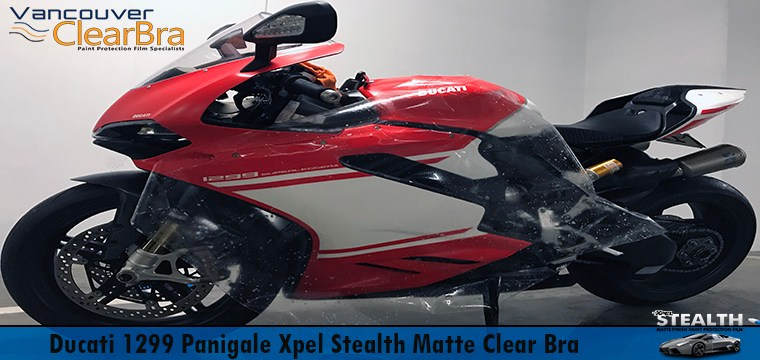 Ducati 1299 Panigale Xpel Stealth Matte Clear Bra