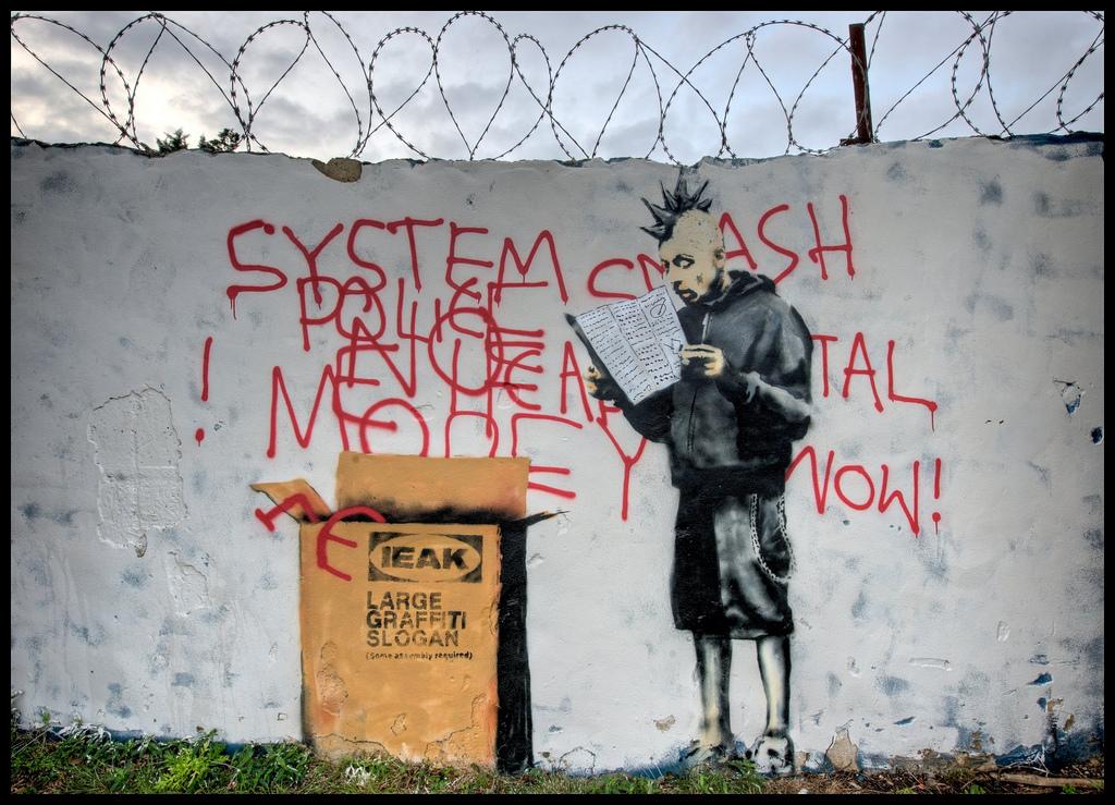 Banksys Ikea Punk Vandalog A Street Art Blog