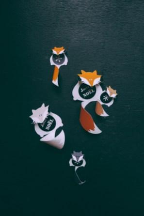 Étiquettes Fox Family à imprimer