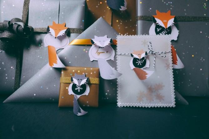 Noël sur le thème des renards