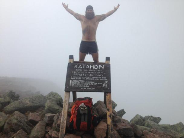 Tom Gathman completing the Appalachian Trail