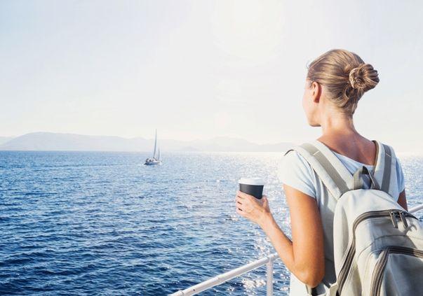 Estudiante en un cruceros