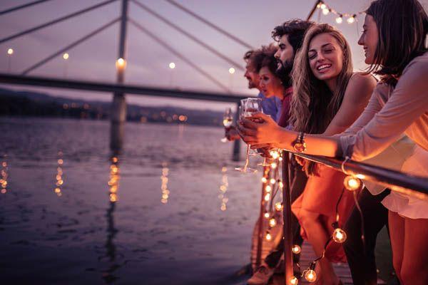 Fiesta de fin de año en un crucero
