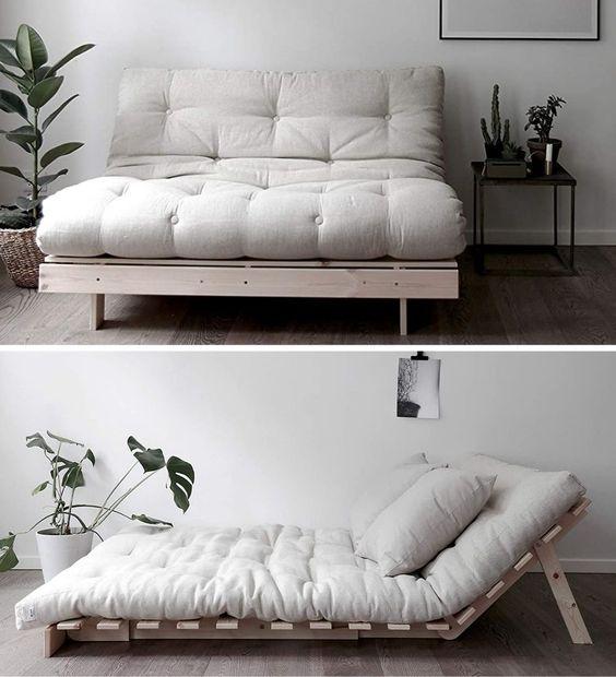 futon gauč a postel