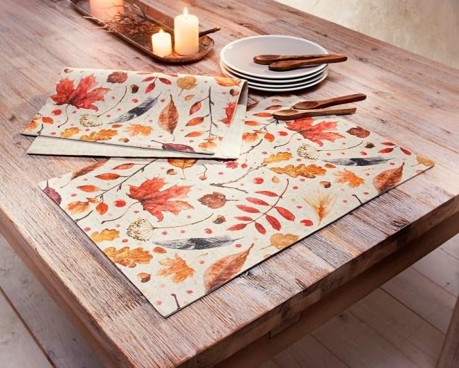 podzimní prostírání na stůl