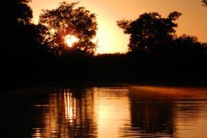 O entardecer é sempre um espetáculo no Pantanal