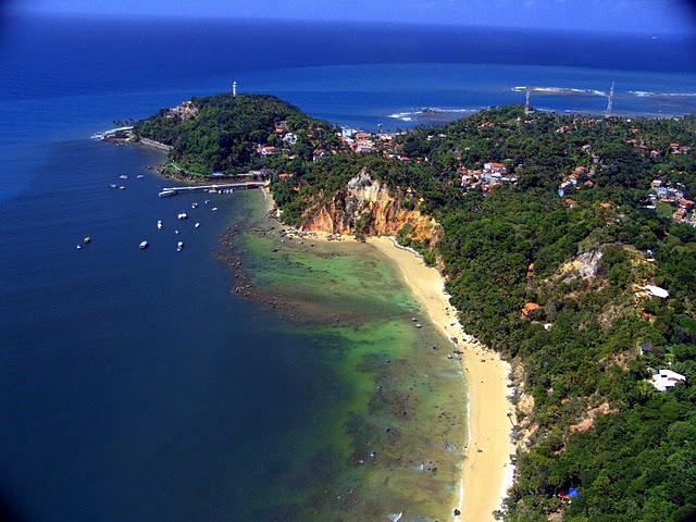 Vista aérea da Ilha de Morro de São Paulo