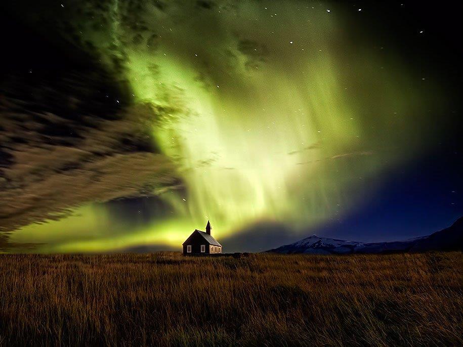 A Islândia é palco da Aurora Boreal