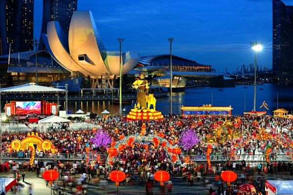 chinese new year celebration by river hong bao