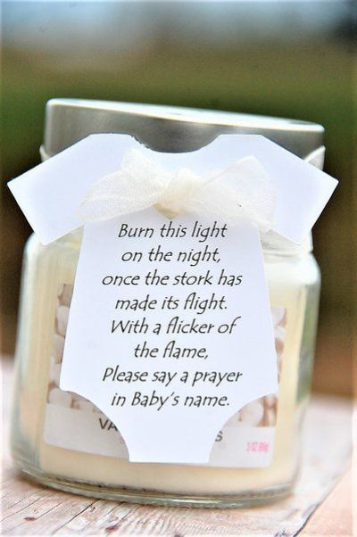 relaxation candle with quotes baby shower gift idea