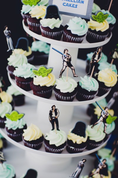 star wars cupcake inspiration for baby shower food