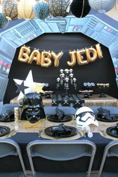 Star wars baby shower decoration