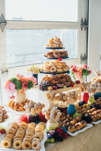 doughnut set for baby shower food idea
