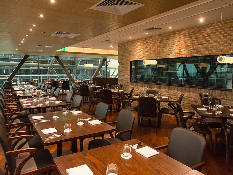 elegant japanese restaurant called the wakanui grill dining singapore