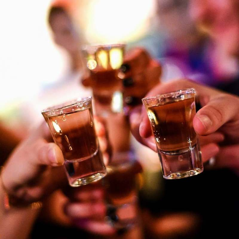picture of celebratory shots at Kinki bar and restaurant