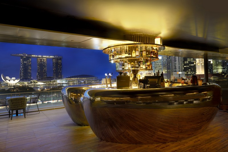 night view of Singapore from Smoke and Mirrors bar