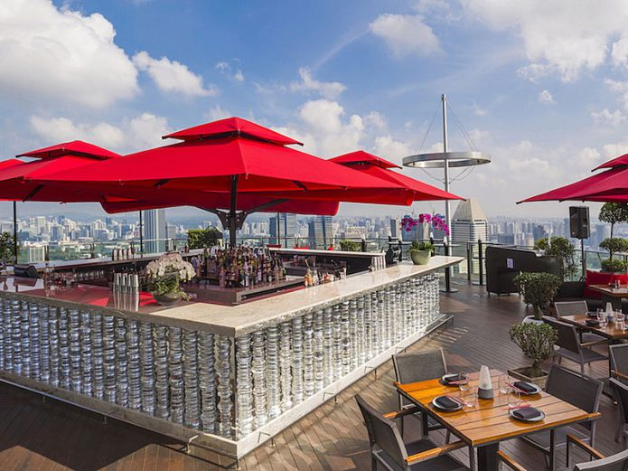 best rooftop bar in Singapore marina bay sand